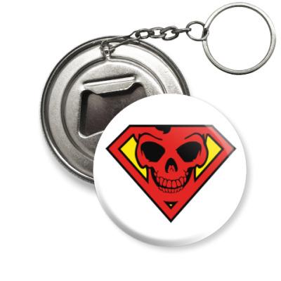Брелок-открывашка Skull Superman