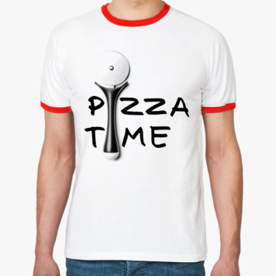 Футболка Ringer-T Pizza Time