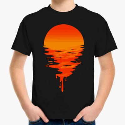 Детская футболка Закат