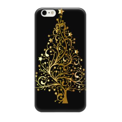 Чехол для iPhone 6/6s Золотая ель