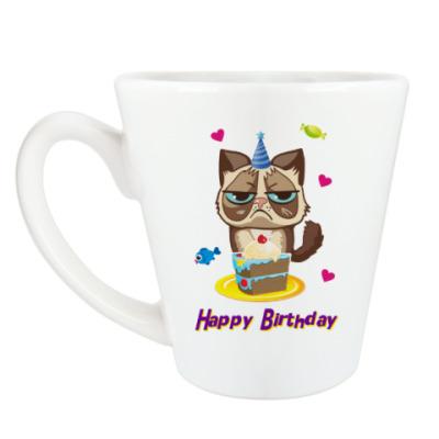 Чашка Латте Угрюмый кот Тард - Grumpy Cat
