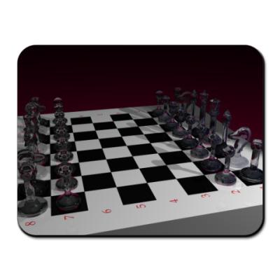 Коврик для мыши 'Стеклянные шахматы'