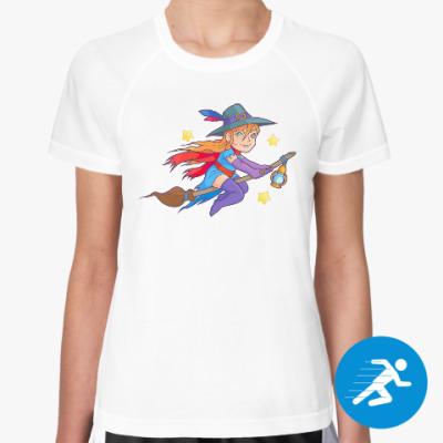 Женская спортивная футболка Ведьма