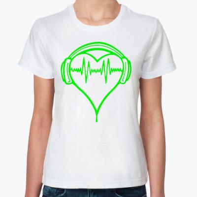 Классическая футболка Музыка в ритме сердца