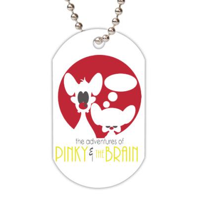 Жетон dog-tag Приключения Пинки и Брэйна
