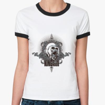 Женская футболка Ringer-T Kong