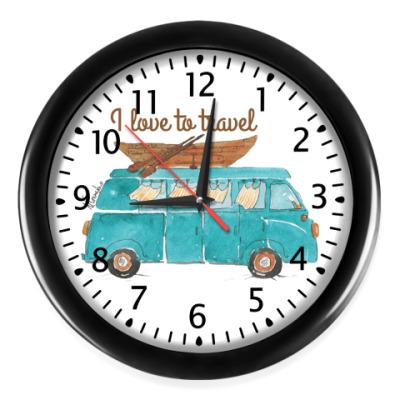 Настенные часы путешествие начинается!
