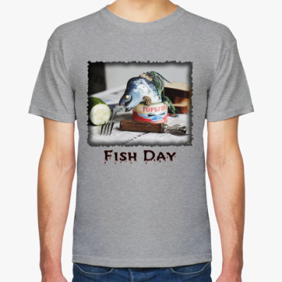 Футболка Рыбный день. Горбуша