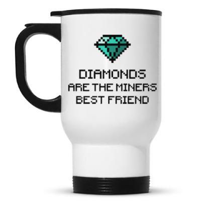 Кружка-термос Minecraft - diamonds