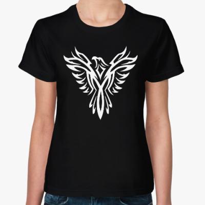 Женская футболка Феникс узор