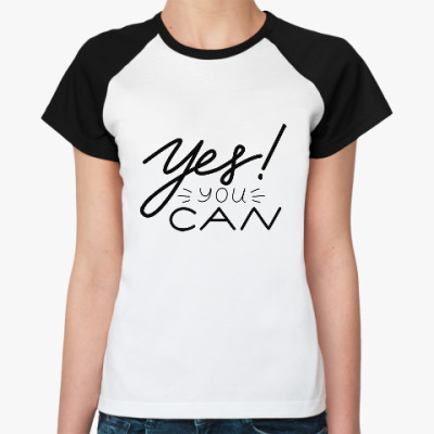 Женская футболка реглан Мотивация