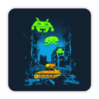 Костер (подставка под кружку) Space Invaders