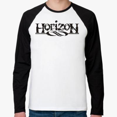 Футболка реглан с длинным рукавом Horizon8