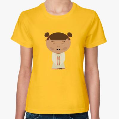 Женская футболка Японская девочка