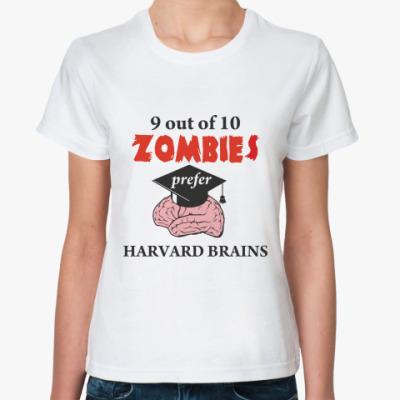 Классическая футболка Harvard brains