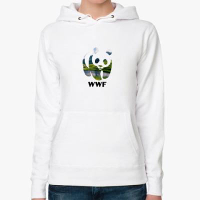 Женская толстовка худи WWF. Панда. Природа