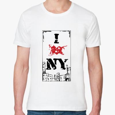 Футболка из органик-хлопка   I Love NY