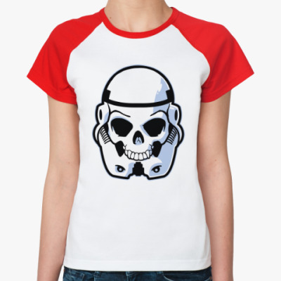 Женская футболка реглан Trooper Skull