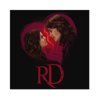 Наклейка (стикер) Rose Hathaway & Dimitri Belikov. Vampire Academy