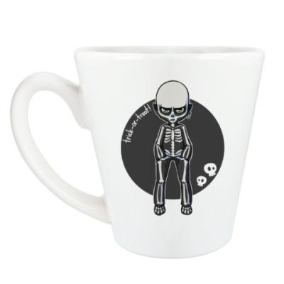 Чашка Латте Скелет
