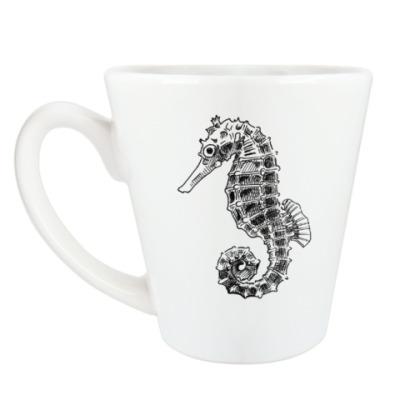 Чашка Латте Морской Конек