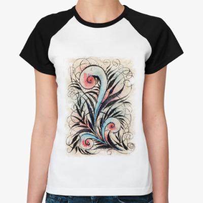 Женская футболка реглан Папоротник