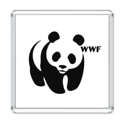 Магнит WWF. Панда с лого