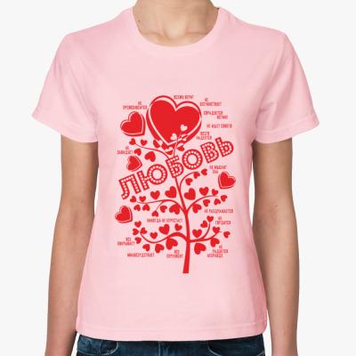 Женская футболка Любовь по апостолу Павлу
