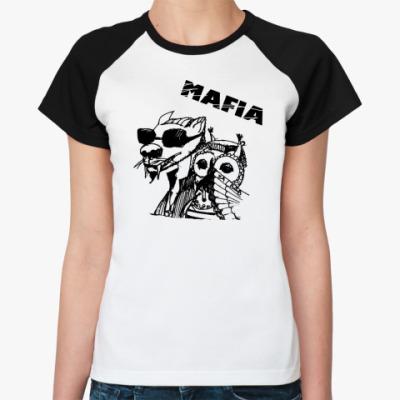 Женская футболка реглан MAFIA