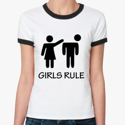 Женская футболка Ringer-T Girls rule