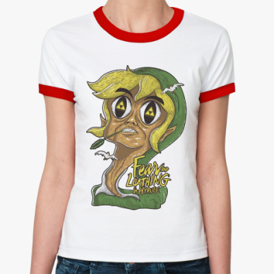 Женская футболка Ringer-T Страх и ненависть в Хайрул