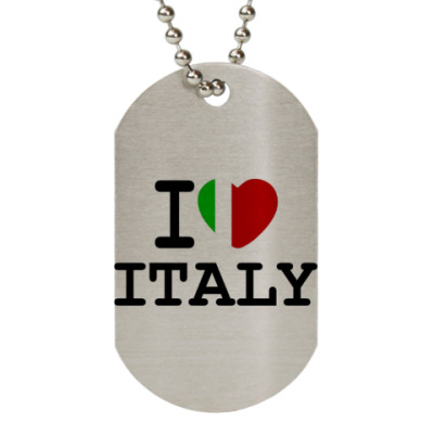 Жетон dog-tag I Love Italy