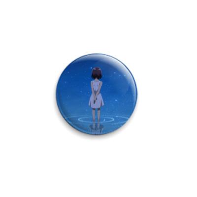 Значок 25мм  Девушка в воде