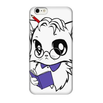 Чехол для iPhone 6/6s Белый кот ботаник