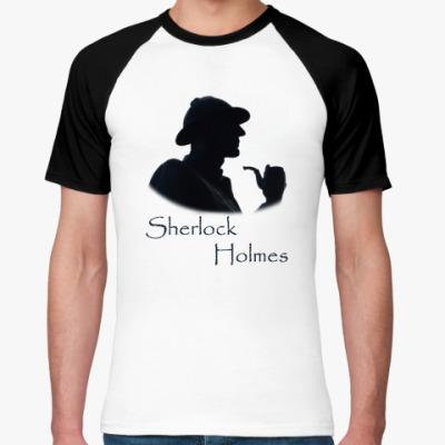 Футболка реглан `Шерлок Холмс`Мужск.футболка