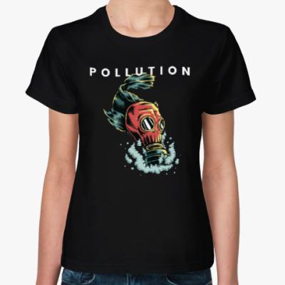 Женская футболка Pollution