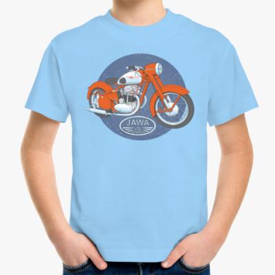 Детская футболка Ретро мотоцикл Jawa Retro