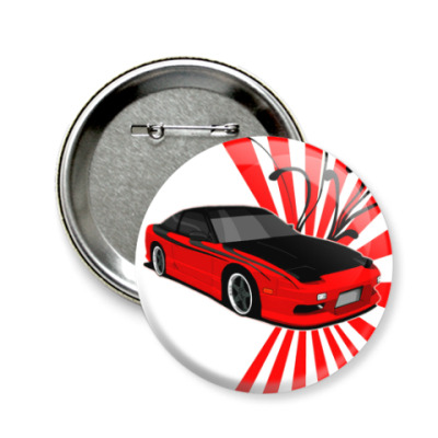 Значок 58мм Nissan 240sx
