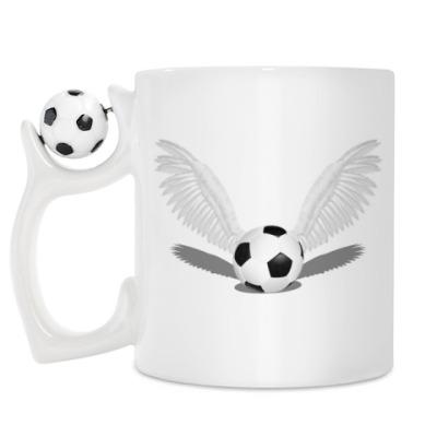 Кружка Футбольный мяч с крыльями
