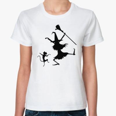 Классическая футболка Кот и ведьма