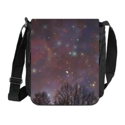 Сумка на плечо (мини-планшет) Ночное небо