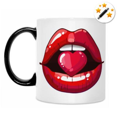 Кружка-хамелеон Губы и Сердце (Lips & Heart)