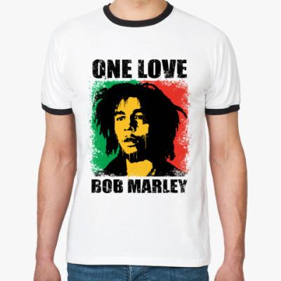 Футболка Ringer-T  'Bob Marley'