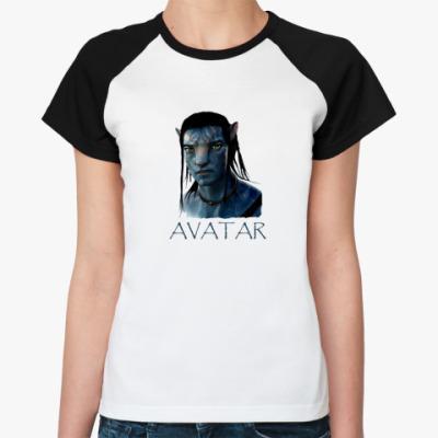 Женская футболка реглан  Avatar Jake Sully
