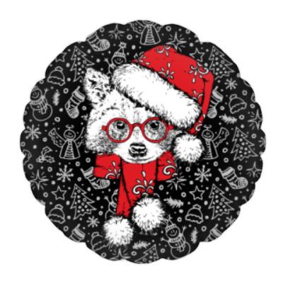 Подушка Енот Санта