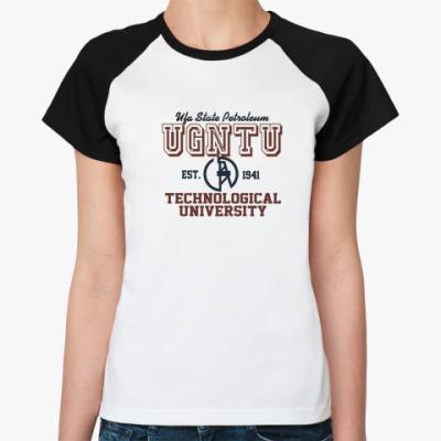 Женская футболка реглан УГНТУ