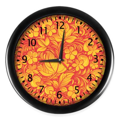 Настенные часы Часы Хохлома