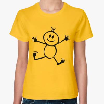 Женская футболка Человечек
