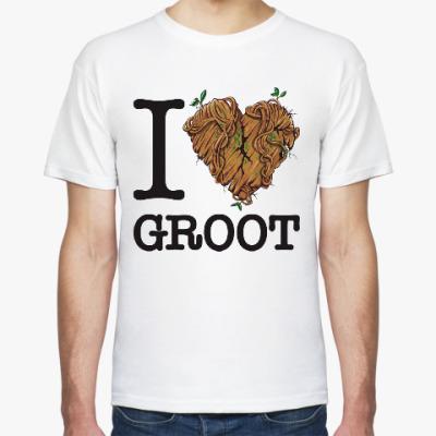 Футболка Я  люблю Грута