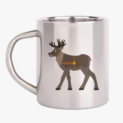 Кружка металлическая Reindeer